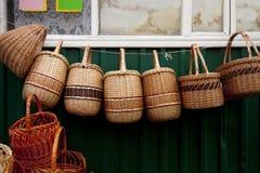 Kosze na ulicznym rynku Zdjęcie Stock