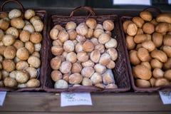 Kosze pełno chleby Fotografia Stock