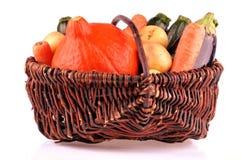 Kosze różnorodni warzywa na białym tle obrazy stock