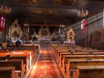 KOSZECIN, POLEN 01 November 2015 : de stralen van de zon verlichten Royalty-vrije Stock Afbeelding