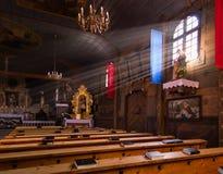 KOSZECIN, POLSKA 01 2015 Listopad : promienie słońce iluminują Obrazy Stock