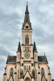 Koszeg, Hungary. Town in Vas county. Sacred Heart Church facade Stock Images