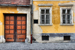 Koszeg, Hungary. Town in Vas county. Old gate and windows Stock Photo