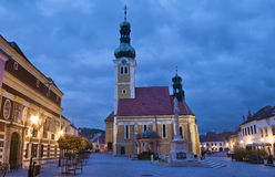 Koszeg at night Royalty Free Stock Photos