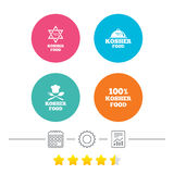 Koszerne artykuł żywnościowy ikony Naturalny posiłku symbol Obrazy Stock