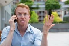 Koszmar rozmowy telefonicza Fotografia Royalty Free