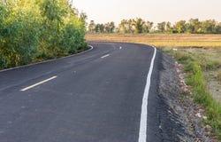 Koszowa asfaltowa droga Zdjęcia Royalty Free