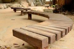 Koszowa Drewniana ławka Obraz Royalty Free