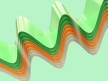 Koszowy zielony żółty biały kształt lewitacji zieleni tło 3d odpłaca się royalty ilustracja