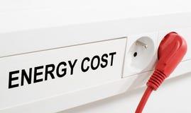 Koszt energii obrazy stock
