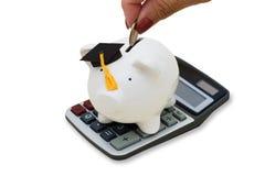 koszt kalkulatorska edukacja Fotografia Royalty Free