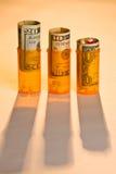 koszt leków wyższą wartość. Fotografia Stock