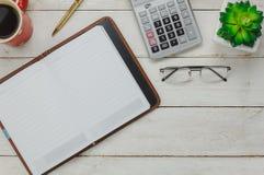 Koszt stały akcesoria biznesowy biurowy biurko Fotografia Royalty Free