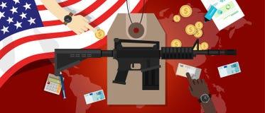 Koszt wojenny konflikt ekonomii kontrola broni palnej obrony wojskowy Obraz Stock