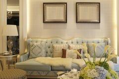 Kosztowny siedzący pokój zdjęcia royalty free
