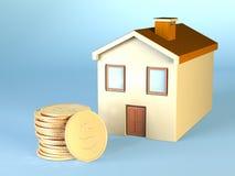 koszty domów Obrazy Royalty Free