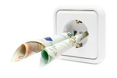 koszty energii elektrycznej Zdjęcia Stock