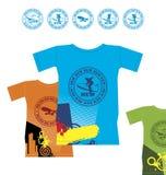 koszula 2 krańcowego sporta t Ilustracja Wektor