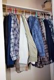 Koszula target954_1_ w szafie Obrazy Royalty Free