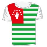 Koszulka chorągwiany Abhaziya Fotografia Stock