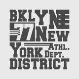 Koszulka druku projekt Brooklyn Nowy Jork Zdjęcia Royalty Free