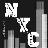 Koszulka Nowy Jork ilustracja wektor