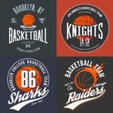 Koszulka projekt dla koszykówek fan dla usa York Brooklyn ulicy nowej drużyny, rycerz szkoły wyższa drużyny i Chicago najeźdźc, Zdjęcia Royalty Free