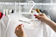 Koszulka robić 100% bawełna Obraz Royalty Free