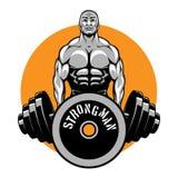 Koszulka wektorowy projekt dla bodybuilders i sprawności fizycznej Zdjęcia Stock