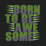 Koszulka znosząca być wspaniały, typografia znaczek, oryginalna koszulka zdjęcie stock