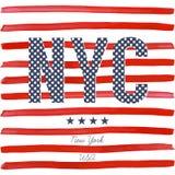 Koszulki typografii projekt, NYC drukowe grafika, typograficzna wektorowa ilustracja, Nowy Jork graficzny projekt dla etykietki l Fotografia Stock