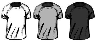 3 koszulki ustawiającej ilustracja wektor