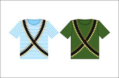 Koszulki z druku nabojowym paskiem Odziewać dla festiwalu na Feb Zdjęcia Stock