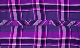Koszulowa w kratkę tekstylnej tkaniny tekstura pożytecznie jako tło Zdjęcie Royalty Free