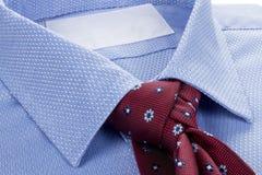 Koszulowy błękitny krawat Obraz Stock
