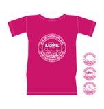 koszulowy dzień valentine t Royalty Ilustracja