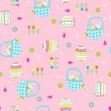 koszy Easter wzoru powtórka bezszwowa Zdjęcie Royalty Free