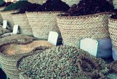 koszy fasoli jedzenie inna sprzedaż Zdjęcie Stock