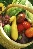 koszy ogrodowe warzywa Fotografia Royalty Free