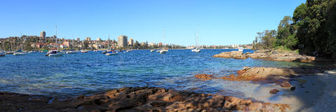 koszy plaży czterdzieści panorama Zdjęcie Royalty Free