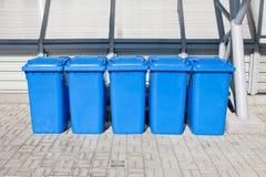 koszy target1617_0_ błękitny plastikowy Zdjęcia Stock