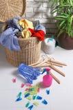 koszy ubrania brudzą pralnię Zdjęcie Royalty Free