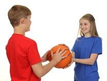 Koszykówek dzieci Obraz Royalty Free