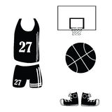 koszykówek ikony Zdjęcia Stock