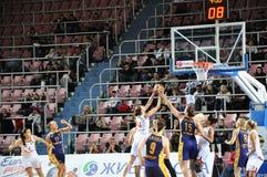 Koszykówek kobiety 21.10.2012, miasto Orenburg, Sou Fotografia Royalty Free