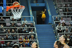 Koszykówek kobiety 21.10.2012, miasto Orenburg, Sou Obrazy Royalty Free