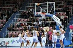 Koszykówek kobiety 21.10.2012, miasto Orenburg, Sou Zdjęcia Stock
