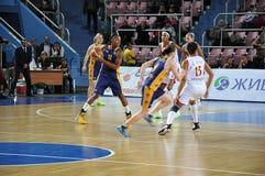 Koszykówek kobiety 21.10.2012, miasto Orenburg, Sou Zdjęcie Stock