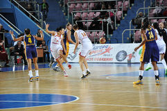 Koszykówek kobiety 21.10.2012, miasto Orenburg, Sou Obraz Stock