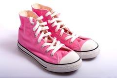 koszykówek różowe buty Fotografia Royalty Free
